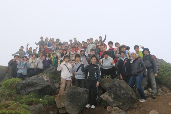 参加者全員で登頂できました